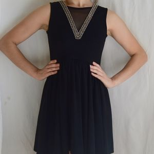 Simple Black Dress with Beading